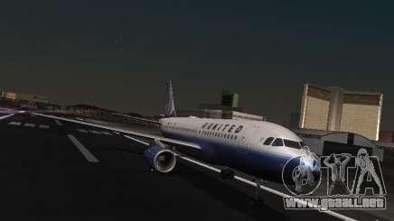 Airbus A319 United Airlines para GTA San Andreas