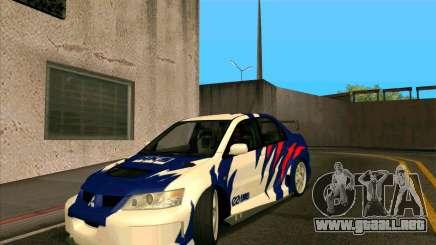 Mitsubishi Lancer Evolution 8 MostWanted para GTA San Andreas
