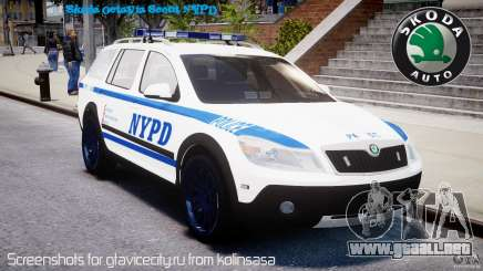 Skoda Octavia Scout NYPD [ELS] para GTA 4