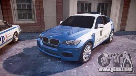 BMW X6M Police para GTA 4