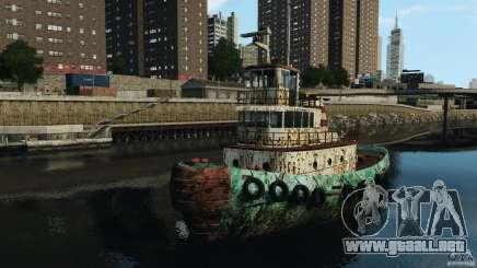 Realistic Rusty Tugboat para GTA 4