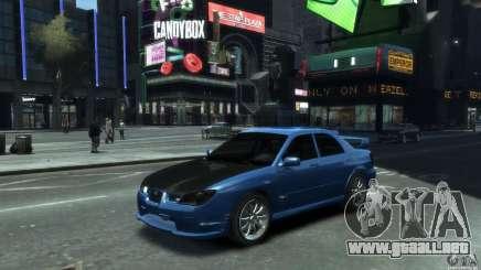 Subaru Impreza WRX STI 2006 para GTA 4