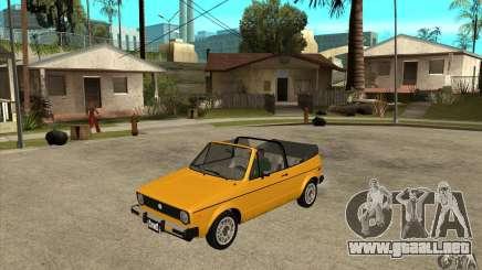 Volkswagen Rabbit Convertible para GTA San Andreas