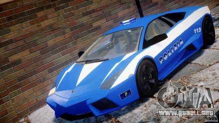 Lamborghini Reventon Polizia Italiana para GTA 4