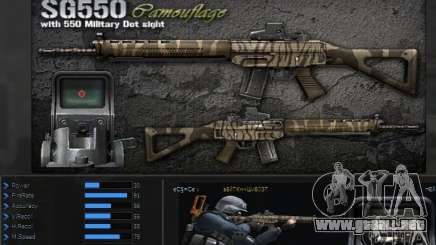 [Point Blank] SG550 Kamo para GTA San Andreas