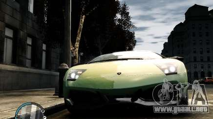 Lamborghini Murcielago LP 670-4 SuperVeloce 2010 para GTA 4