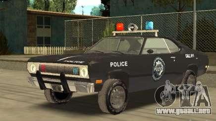 Plymout Duster 340 POLICE v2 para GTA San Andreas