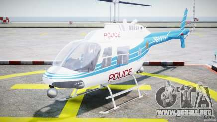 Bell 206 B - Chicago Police Helicopter para GTA 4
