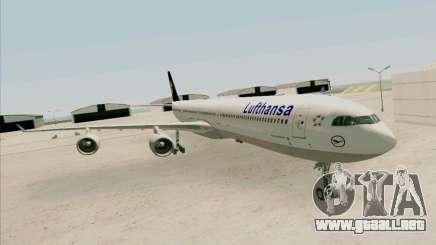 Airbus A-340-600 Lufthansa para GTA San Andreas