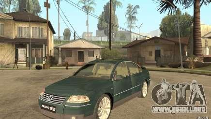 Volkswagen Passat B5+ W8 4Motion para GTA San Andreas