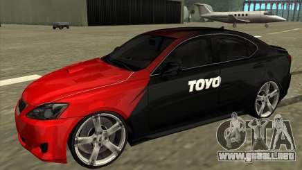 Lexus IS350 de NFS Pro street para GTA San Andreas