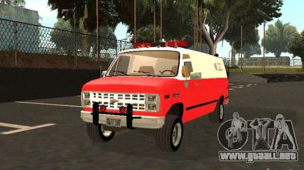 Chevrolet Van G20 LAFD para GTA San Andreas