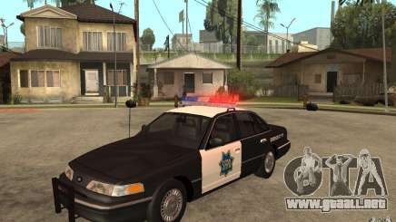 Ford Crown Victoria SFPD 1992 para GTA San Andreas