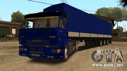 Camioneros KAMAZ 5460 2 para GTA San Andreas