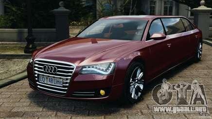 Audi A8 Limo v1.2 para GTA 4