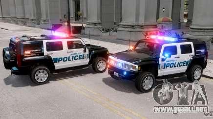 Hummer H3X 2007 LC Police Edition ELS para GTA 4