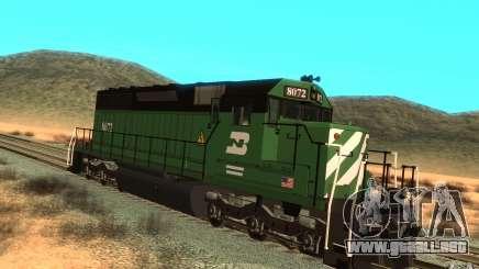 Locomotora SD 40 Burlington Northern 8072 para GTA San Andreas