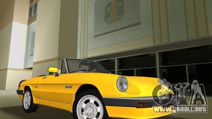 Alfa Romeo Spider 1986 para GTA Vice City
