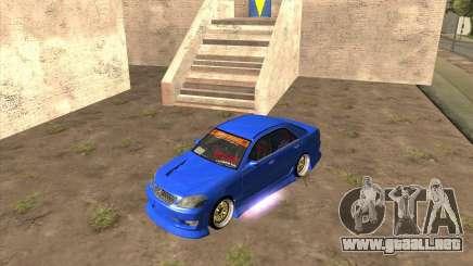 Toyota JZX110 make 2 para GTA San Andreas