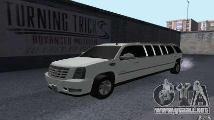 Cadillac Escalade 2008 Limo para GTA San Andreas