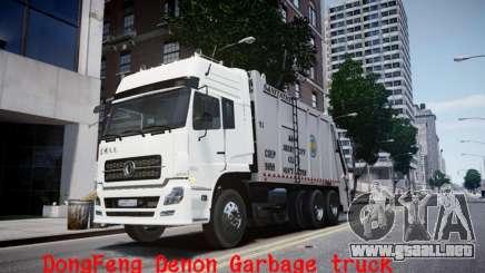 Dongfeng Denon Garbage Truck para GTA 4