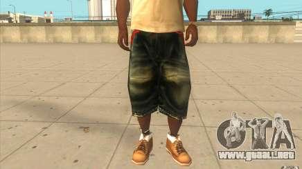 The BIG Makaveli Short Jeans para GTA San Andreas