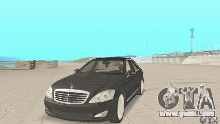Mercedes-Benz S500 (w221) 2006 para GTA San Andreas