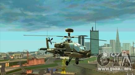 Apache AH64D Longbow para GTA San Andreas