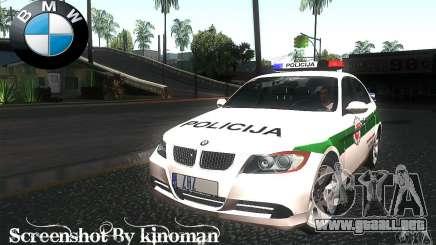 BMW 330 E90 Policija para GTA San Andreas