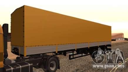 Remolque Nefaz de camioneros 2 para GTA San Andreas