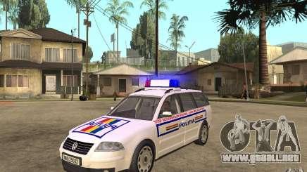 VW Passat B5+ Variant Politia Romana para GTA San Andreas