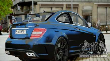 Mercedes-Benz C63 AMG Black Series 2012 v1.0 para GTA 4
