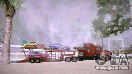 Remolque transportador automático para GTA San Andreas