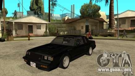 Buick Regal Grand National GNX para GTA San Andreas