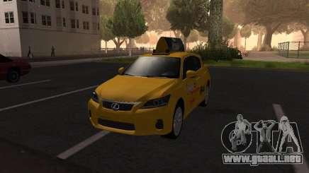 Lexus CT 200h 2011 Taxi para GTA San Andreas