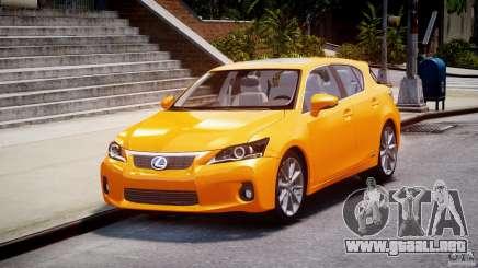 Lexus CT200h 2011 para GTA 4