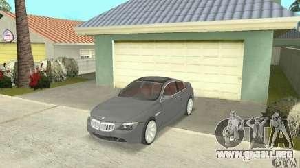 2004 BMW 645ci E63 con Interior rojo para GTA San Andreas