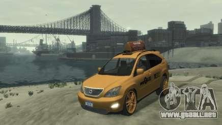 Lexus RX400 New York Taxi para GTA 4