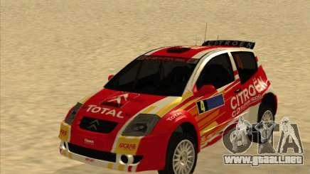 Citroen Rally Car para GTA San Andreas
