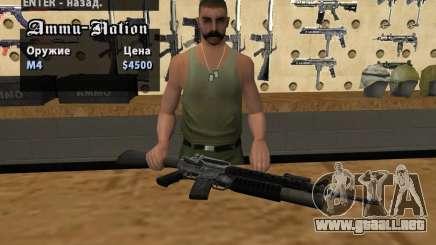 M16 con un M203 para GTA San Andreas