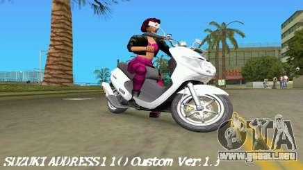 Suzuki Address 110 Custom Ver.1.3 para GTA Vice City