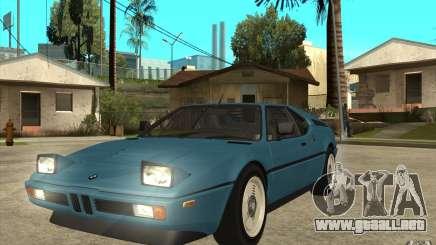 BMW M1 1981 para GTA San Andreas