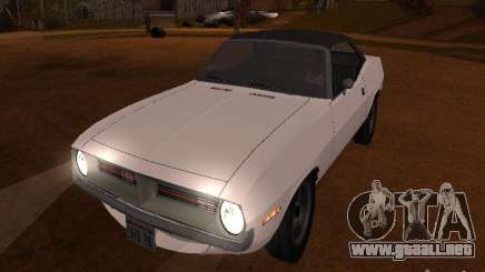 Plymouth Barracuda Rag Top 1970 para GTA San Andreas