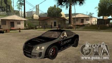 Bentley Continental SS Skin 4 para GTA San Andreas