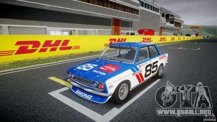 Datsun Bluebird 510 1971 BRE para GTA 4