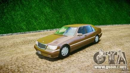 Mercedes Benz SL600 W140 98 performance shafter para GTA 4