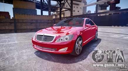 Mercedes Benz w221 s500 v1.0 cls amg wheels para GTA 4