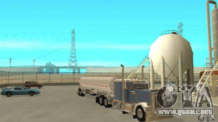 Peterbilt 379 Custom And Tanker Trailer para GTA San Andreas