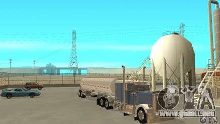 Peterbilt 379 Custom And Tanker Trailer para GTA San Andreas