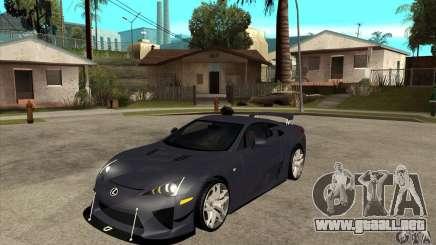 Lexus LFA 2010 v2 para GTA San Andreas